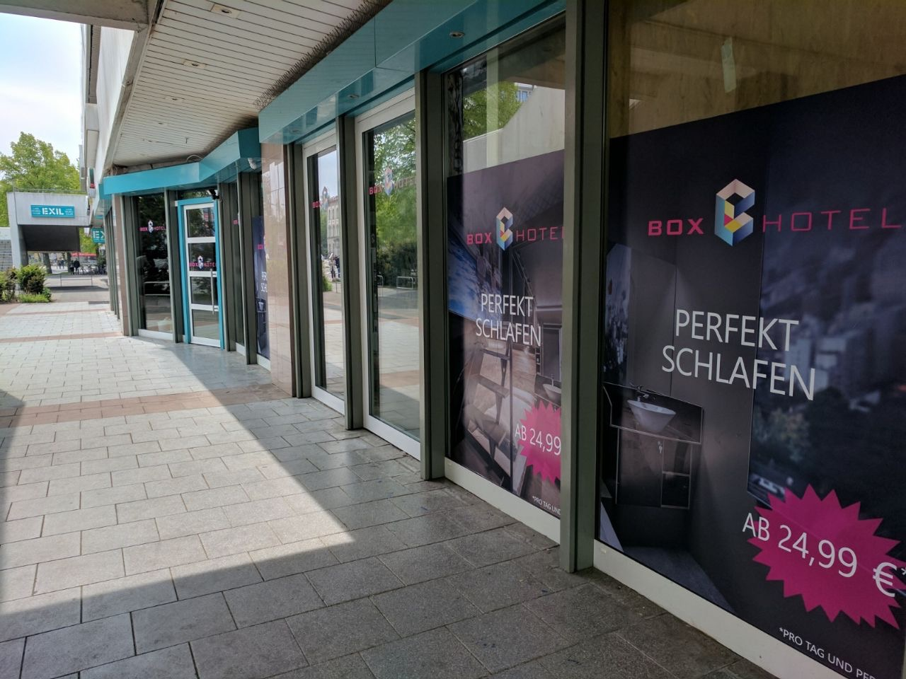 BoxHotel Göttingen Eingangsbereich