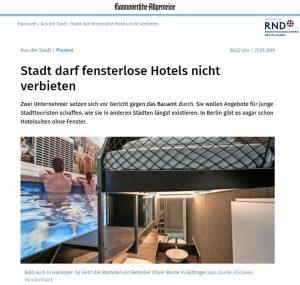 20190124_HAZ_Stadt darf fensterlose Hotels nicht verbieten