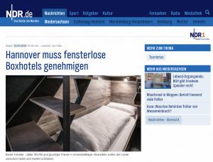 20190124_NDR.de_Hannover muss fensterlose Boxhotels genehmigen