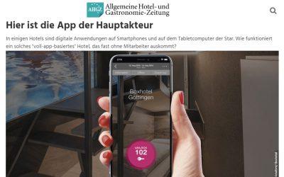 2018/08/26 Allgemeine Hotel- & Gastronomie-Zeitung – Hier ist die App der Hauptakteur