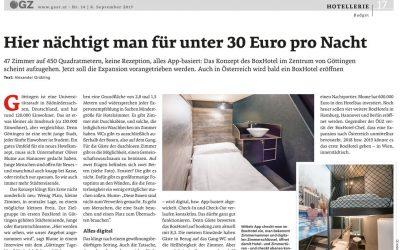 2019/05/02 ÖGZ/Österreichische Gastro und Hotelzeitung – Schlafen im Kleinformat