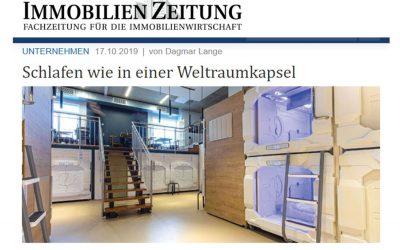 2019/10/17 IZ Immobilien Zeitung – Schlafen wie in einer Weltraumkapsel